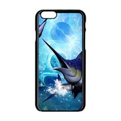 Awersome Marlin In A Fantasy Underwater World Apple iPhone 6/6S Black Enamel Case