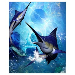 Awersome Marlin In A Fantasy Underwater World Drawstring Bag (small)