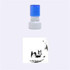 Cute Fairy In A Butterflies Boat In The Night Rubber Round Stamps (small)