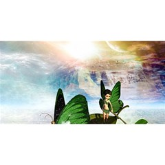 Cute Fairy In A Butterflies Boat In The Night YOU ARE INVITED 3D Greeting Card (8x4)