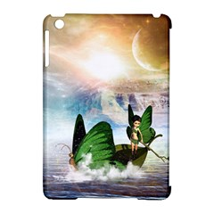 Cute Fairy In A Butterflies Boat In The Night Apple iPad Mini Hardshell Case (Compatible with Smart Cover)