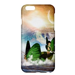 Cute Fairy In A Butterflies Boat In The Night Apple iPhone 6 Plus/6S Plus Hardshell Case