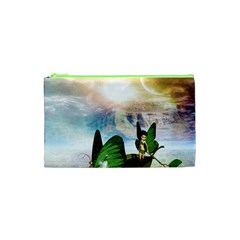Cute Fairy In A Butterflies Boat In The Night Cosmetic Bag (xs)