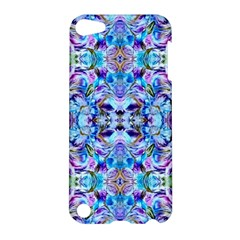 Elegant Turquoise Blue Flower Pattern Apple iPod Touch 5 Hardshell Case