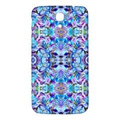 Elegant Turquoise Blue Flower Pattern Samsung Galaxy Mega I9200 Hardshell Back Case