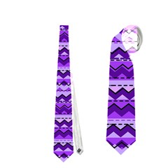 Purple Tribal Pattern Neckties (Two Side)