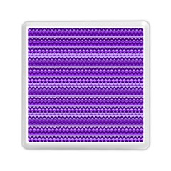 Purple Tribal Pattern Memory Card Reader (Square)