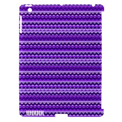 Purple Tribal Pattern Apple iPad 3/4 Hardshell Case (Compatible with Smart Cover)