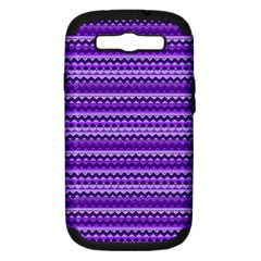 Purple Tribal Pattern Samsung Galaxy S III Hardshell Case (PC+Silicone)