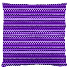 Purple Tribal Pattern Large Flano Cushion Cases (One Side)