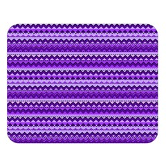 Purple Tribal Pattern Double Sided Flano Blanket (Large)