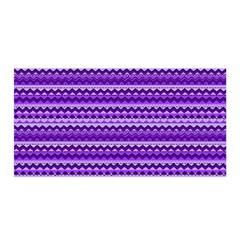 Purple Tribal Pattern Satin Wrap