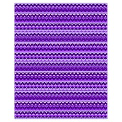 Purple Tribal Pattern Drawstring Bag (small)