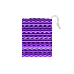 Purple Tribal Pattern Drawstring Pouches (XS)