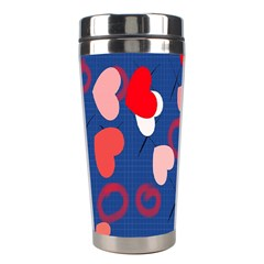 Hearts X s & O s Stainless Steel Travel Tumblers