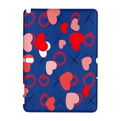 Hearts X s & O s Samsung Galaxy Note 10.1 (P600) Hardshell Case