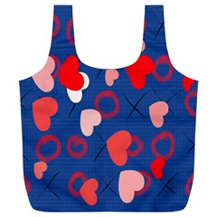 Hearts X s & O s Full Print Recycle Bags (L)