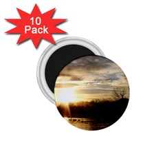 SETTING SUN AT LAKE 1.75  Magnets (10 pack)