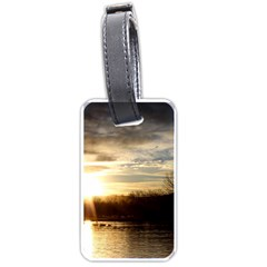 SETTING SUN AT LAKE Luggage Tags (One Side)