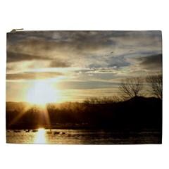 SETTING SUN AT LAKE Cosmetic Bag (XXL)