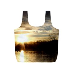 SETTING SUN AT LAKE Full Print Recycle Bags (S)