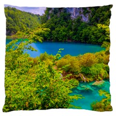 PLITVICE, CROATIA Standard Flano Cushion Cases (One Side)