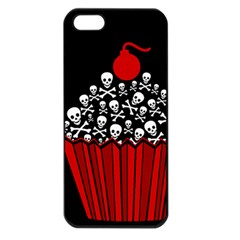 Skull Cupcake Apple Iphone 5 Seamless Case (black)