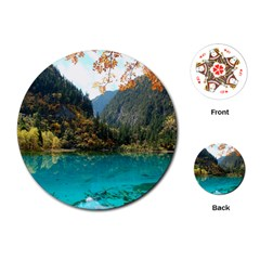 Jiuzhaigou Valley 3 Playing Cards (round)