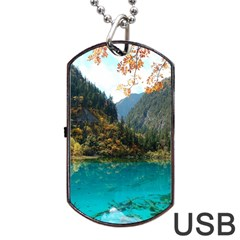 JIUZHAIGOU VALLEY 3 Dog Tag USB Flash (One Side)