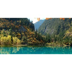 Jiuzhaigou Valley 3 You Are Invited 3d Greeting Card (8x4)