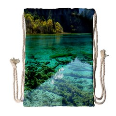 JIUZHAIGOU VALLEY 2 Drawstring Bag (Large)