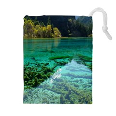 JIUZHAIGOU VALLEY 2 Drawstring Pouches (Extra Large)