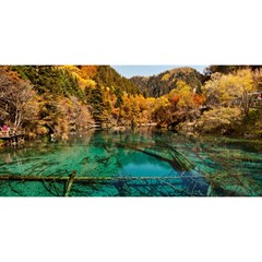 JIUZHAIGOU VALLEY 1 YOU ARE INVITED 3D Greeting Card (8x4)