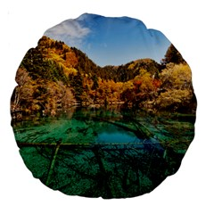 JIUZHAIGOU VALLEY 1 Large 18  Premium Round Cushions