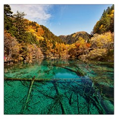 JIUZHAIGOU VALLEY 1 Large Satin Scarf (Square)