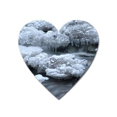 ICE AND WATER Heart Magnet