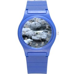 ICE AND WATER Round Plastic Sport Watch (S)