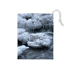 ICE AND WATER Drawstring Pouches (Medium)
