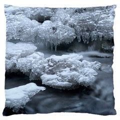 Ice And Water Standard Flano Cushion Cases (two Sides)