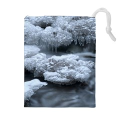 ICE AND WATER Drawstring Pouches (Extra Large)