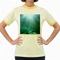 CRATER LAKE NATIONAL PARK Women s Fitted Ringer T-Shirts
