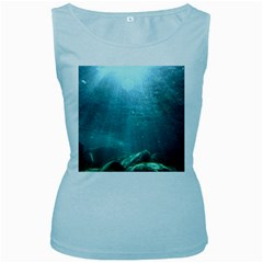 CRATER LAKE NATIONAL PARK Women s Baby Blue Tank Tops