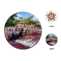 CANO CRISTALES 2 Playing Cards (Round)