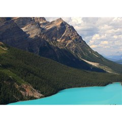 Banff National Park 3 Birthday Cake 3d Greeting Card (7x5)