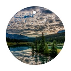 BANFF NATIONAL PARK 2 Round Ornament (Two Sides)