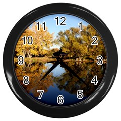 AUTUMN LAKE Wall Clocks (Black)