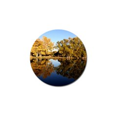 AUTUMN LAKE Golf Ball Marker