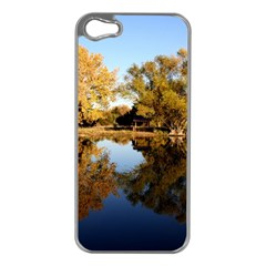 AUTUMN LAKE Apple iPhone 5 Case (Silver)