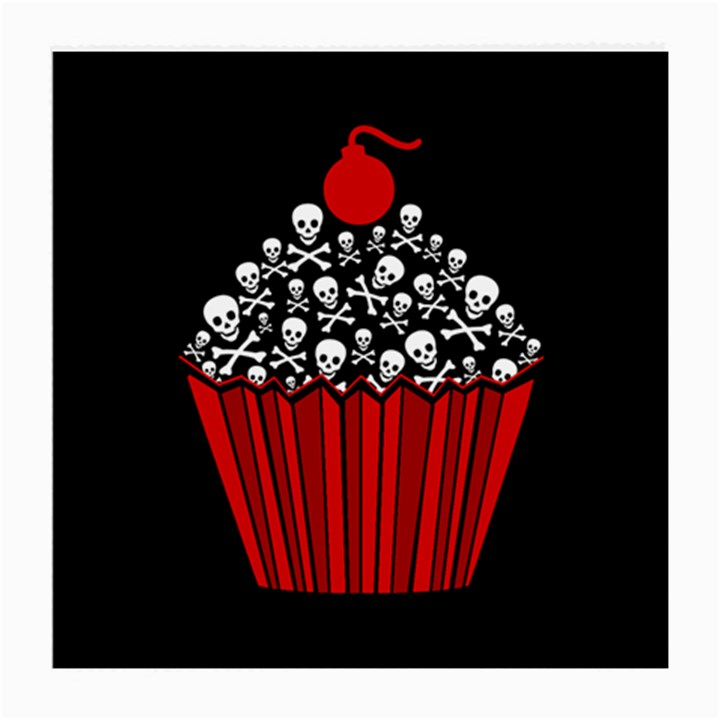 Skull Cupcake Medium Glasses Cloth (2 Sides)