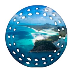 WHITEHAVEN BEACH 2 Ornament (Round Filigree)